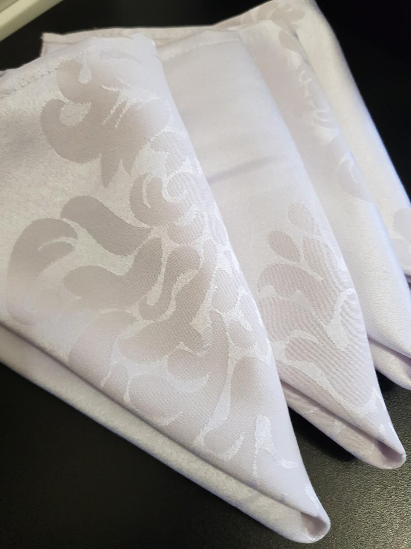 Servet  damasc alb 44x44 cm,