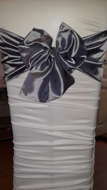 Esarfa 24x150 cm tafta gri inchis