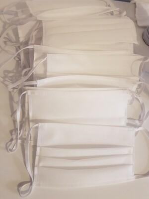 Masca de protectie, 2 straturi - 3 pliuri TNT spunbond