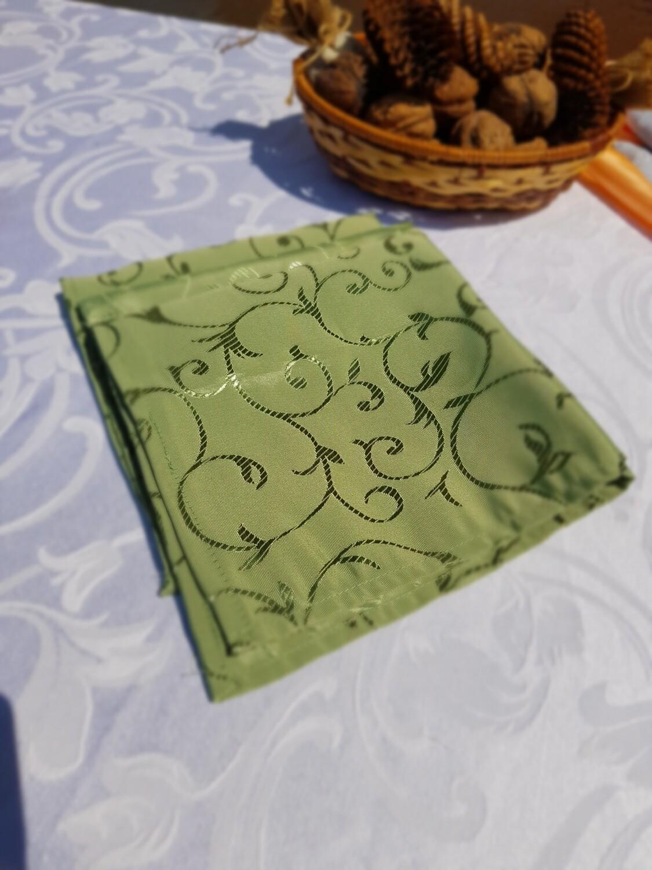 Servet brocart verde 40x40 cm