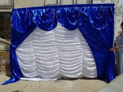 Drapaj fundal prezidiu alb&albastru