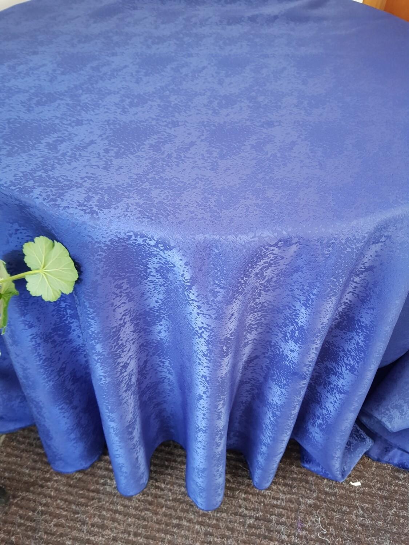 Fete masa D300 cm, brocart albastru
