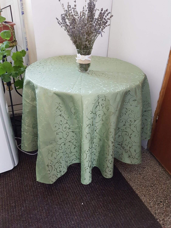 Fata masa D195 cm, brocart verde