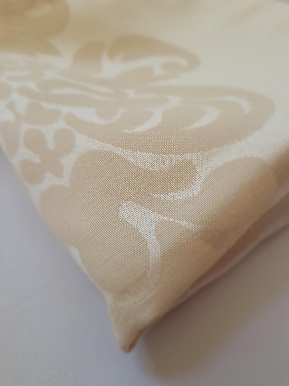 Servet damasc crem- roze, 38x38 cm,