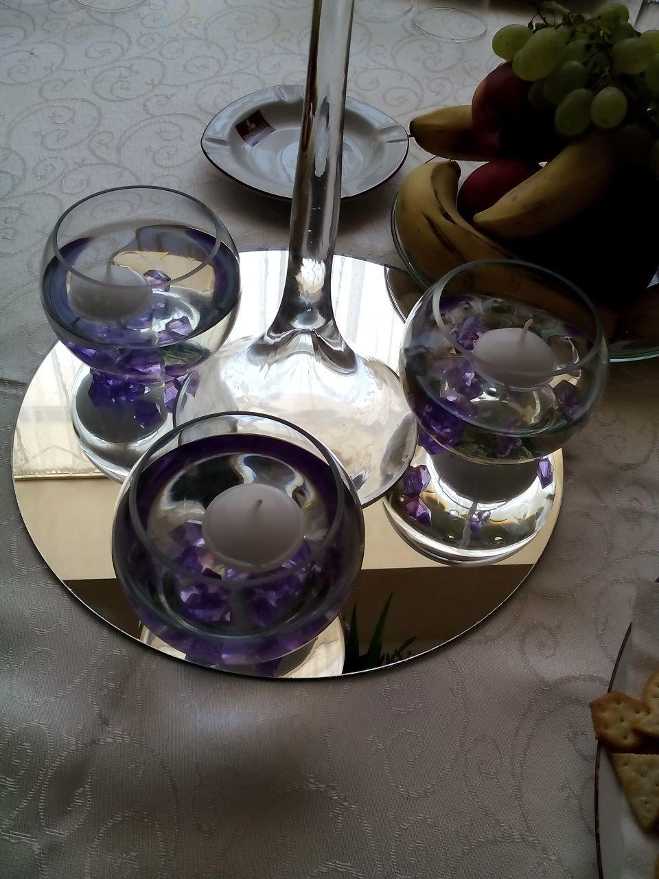 Oglinda rotunda pentru masa