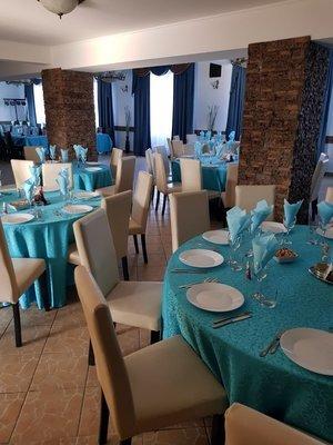 Feţe de masă pentru evenimente (brocard 100% poliester)