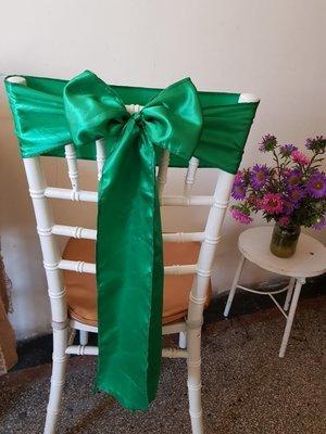 Esarfe 12x245 cm satin verde