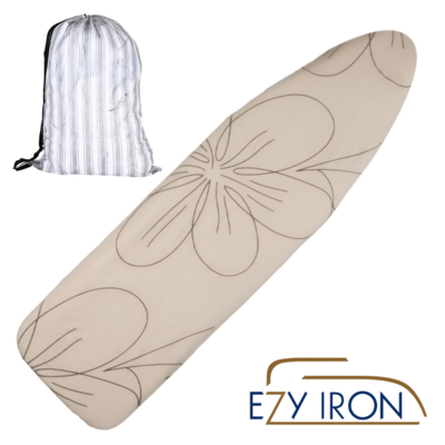 COMING SOON! AVAILABLE IN JULY,   EZY IRON Single Sided Fully Padded Superior Quality Ironing Board Cover!  Luscious Latte Design with FREE Postage. LIMITED TIME:  FREE BONUS Laundry Bag Included!!