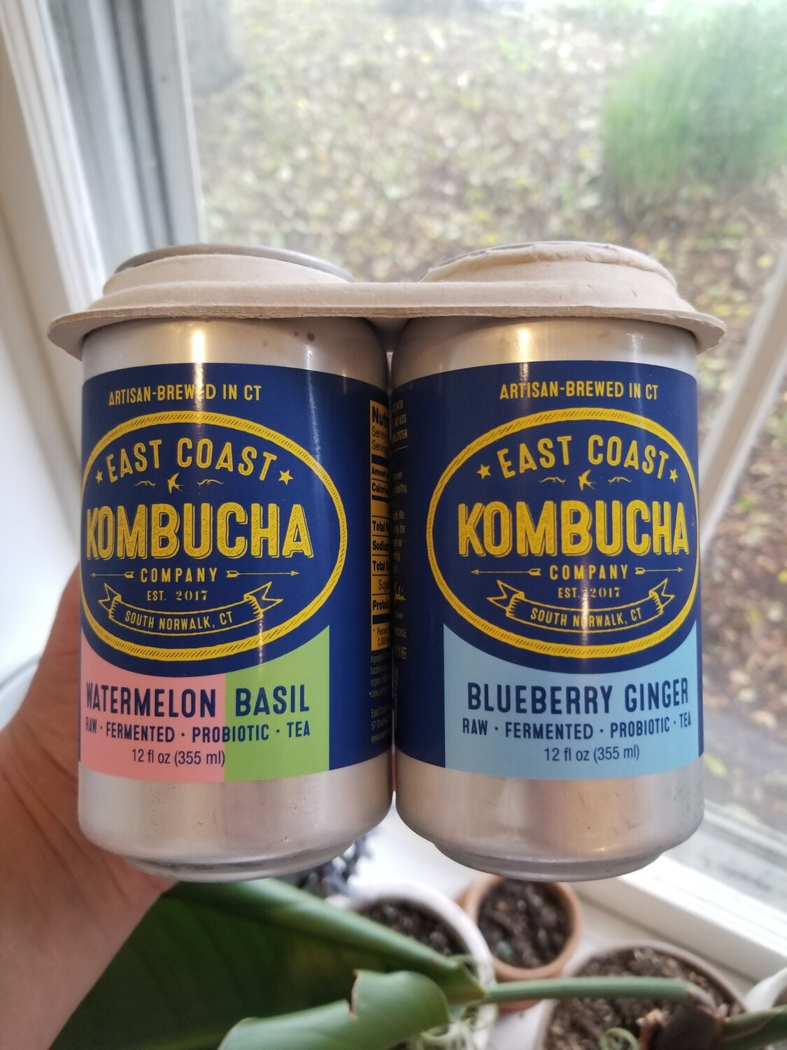 East Coast Kombucha variety 4-pack