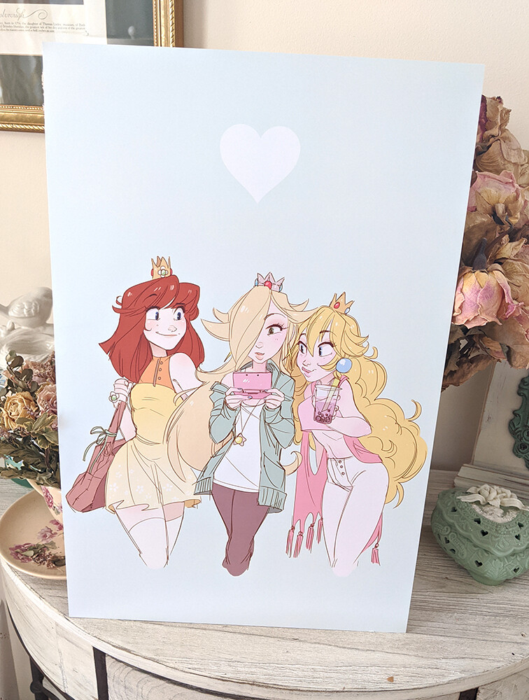 Mario Princess Trio (11x17) SALE