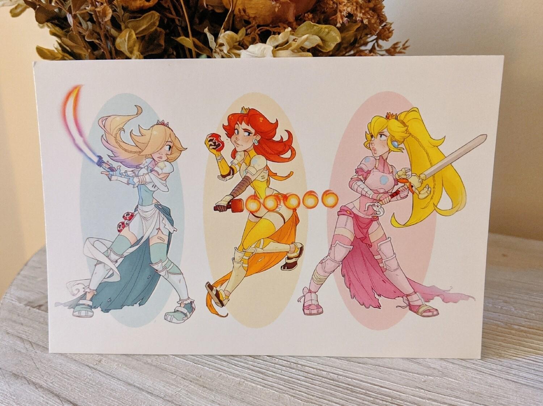 Mario Princess Warrior Trio (4x6) DISCONTINUED