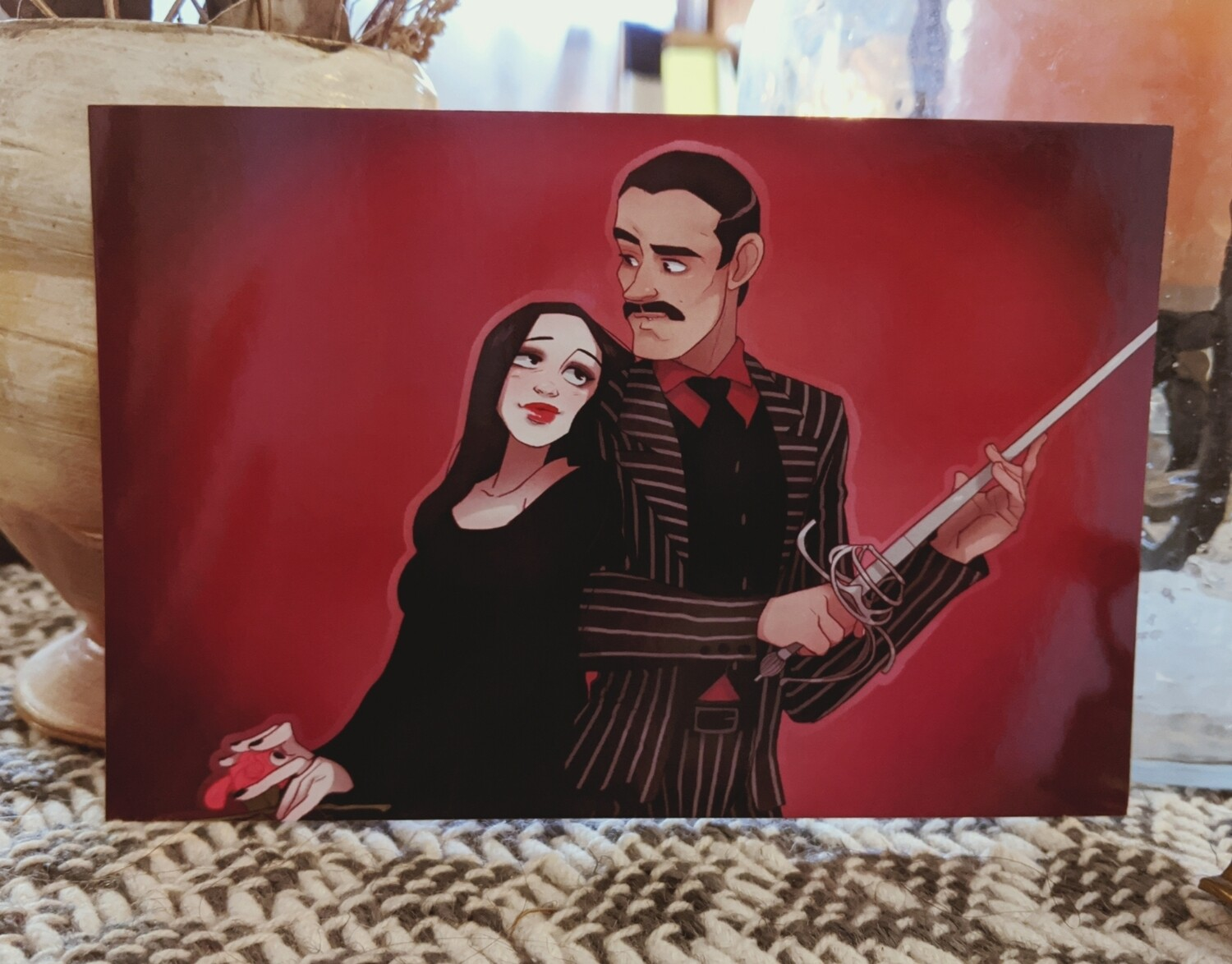 Morticia and Gomez (4x6)