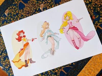 Mario Princess Gunners (11x17)