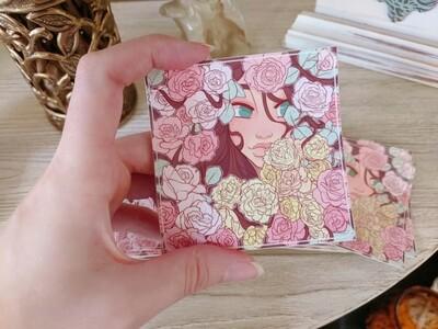 Warm Whimsical Petals (Sticker)