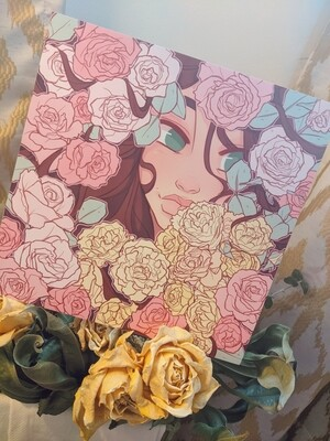 Warm Whimsical Petals (8x8)