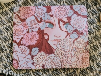 Warm Whimsical Petals - Mouse Pad