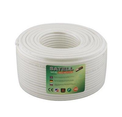 26004 Ант.SAT50 SATELL 1,02/Cu+Al foil/48/0,12Al/100м (белый)
