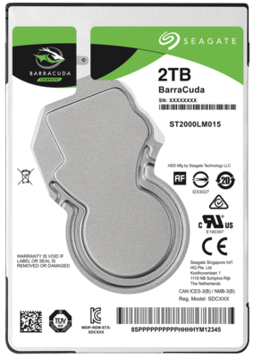 Seagate 2 tb internal sata laptop hard drive with two years manufacturer warranty