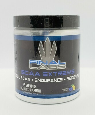 FINAL LABS - BCAA EXTREME 10:1:1 (500GRAMS!!!) MEGA DOSED! 35 SERVINGS