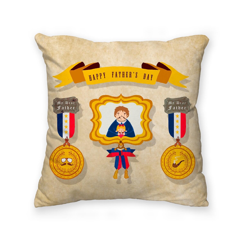 [設計圖樣] 父親節 勳章 相框 插畫 方型 抱枕 Medal Frame Square Pillow