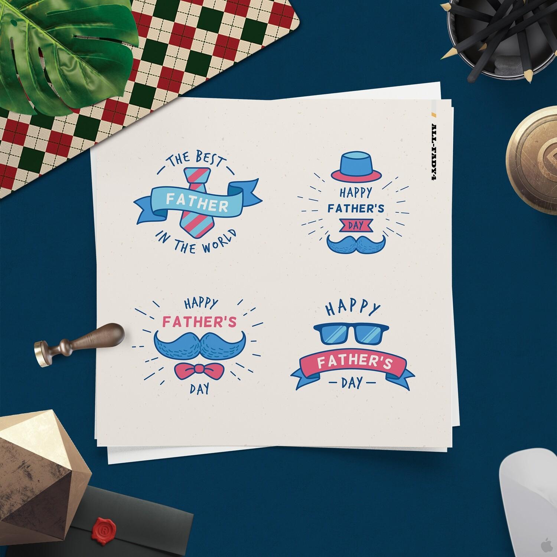 [設計圖樣][父親節可愛LOGO設計集合] 素材 全品項 適用