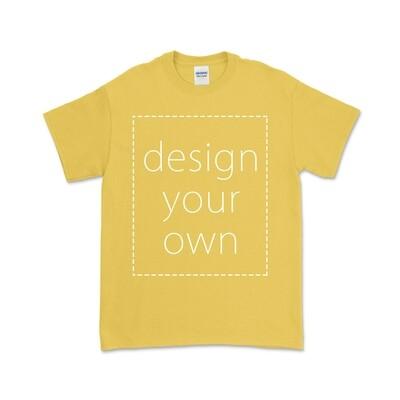 客製 局部 印花 黃色 純棉 中性 T恤 Daisy Cotton T-shirt