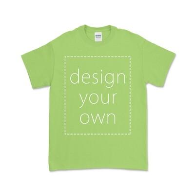 客製 局部 印花 果綠 純棉 中性 T恤 Lime Cotton T-shirt