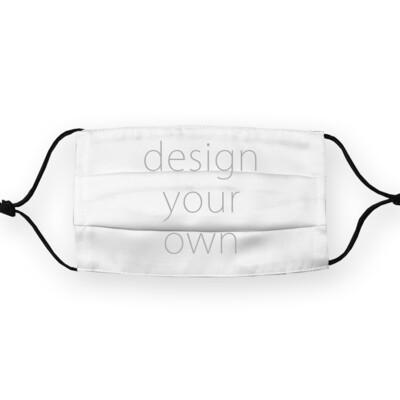 客製 滿版 印花  一折 掛繩 口罩套 超潑表層 可放濾棉 single fold mask cover (Filter insert)