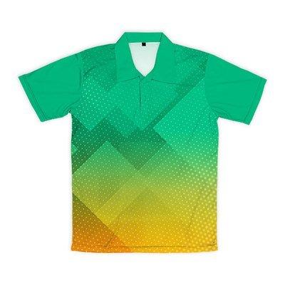 [設計圖樣] 菱形波點 (綠黃漸層)