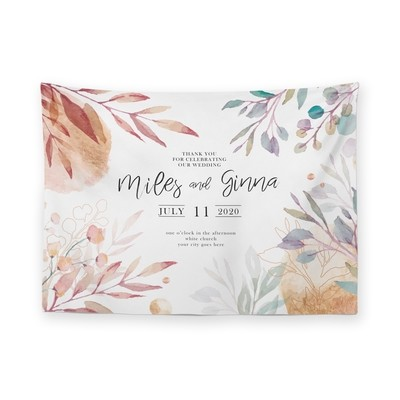 [設計圖樣] 繽紛 花草 婚禮 掛幔 Flower Wedding Tapestry