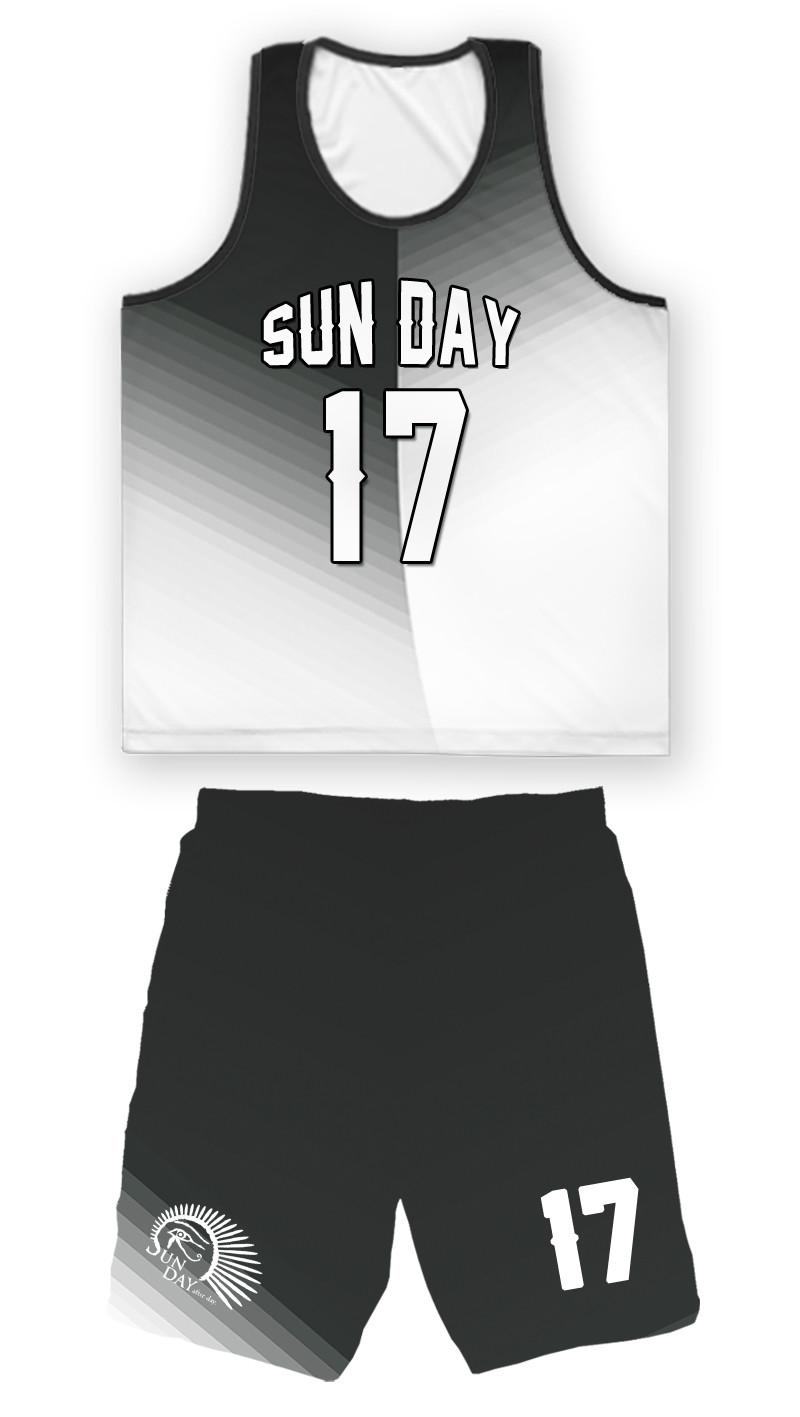 〔Sun Day〕不對稱漸層設計整套球衣