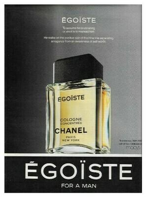 Chanel / Egoiste - For a Man | Magazine Ad | March 1992