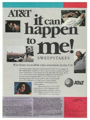 AT+T / It Can Happen to Me! (Sweepstakes) | Magazine Ad | March 1992