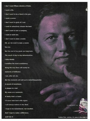 Fisk, Carlton / Nike (Air Cross Trainer Low) | Magazine Ad | March 1992