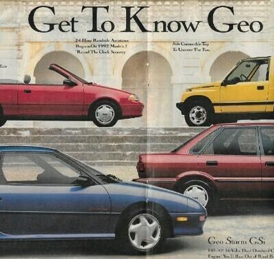 Geo / Get to Know Geo | Magazine Ad | March 1992