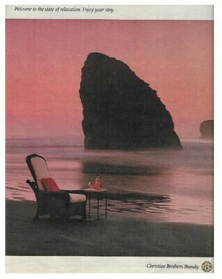 Christian Brothers (Brandy) / Welcome to the State of Relaxation. Enjoy Your Stay. | Magazine Ad | March 1992