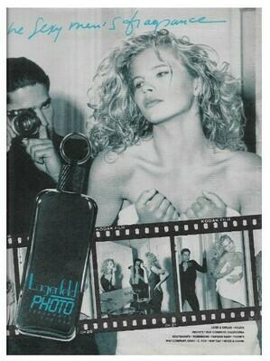 Basinger, Kim / Lagerfeld Photo | Magazine Ad | March 1992 | with Cameron Alborzian