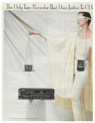 Sony / The Only Tape Recorder That Does Justice to CD's is DAT | Magazine Ad | March 1992