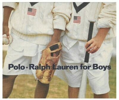 Ralph Lauren / Polo. Ralph Lauren for Boys | Magazine Ad | March 1992