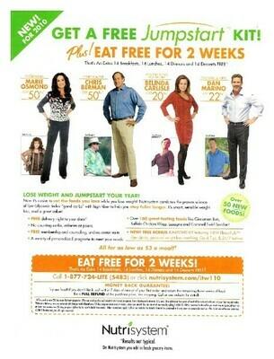 Carlisle, Belinda / Nutrisystem - Get a Free Jumstart Kit! | Magazine Ad | January 2010 | with Others