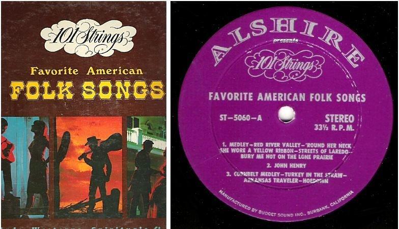"""101 Strings / Favorite American Folk Songs (1965) / Alshire ST-5060 (Album, 12"""" Vinyl)"""