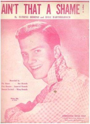 Boone, Pat / Ain't That a Shame! / Commodore Music Corp. | Sheet Music (1955)