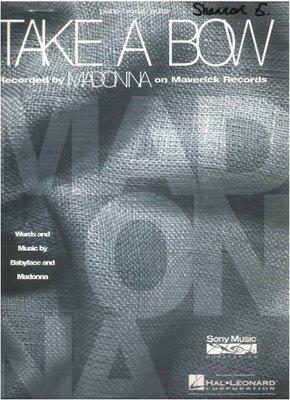 Madonna / Take a Bow / Sony Music Publishing | Sheet Music (1994)