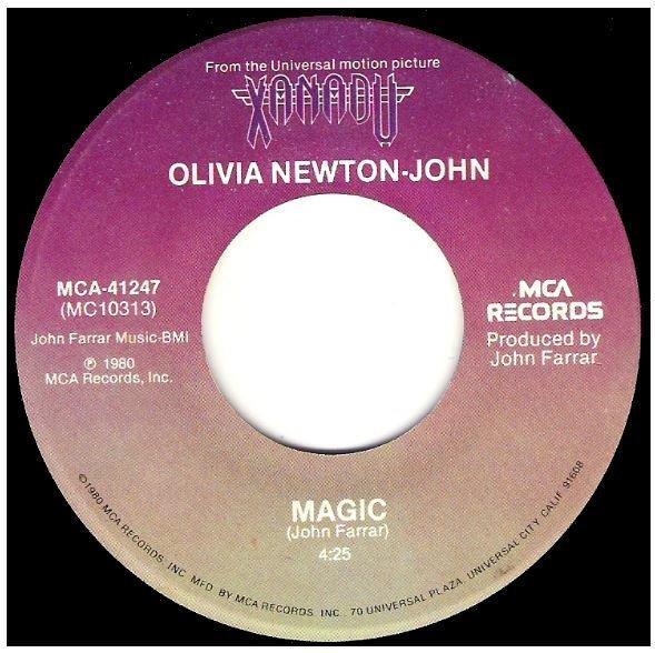 "Newton-John, Olivia / Magic | MCA 41247 | Single, 7"" Vinyl | May 1980"