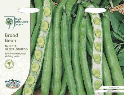 RHS Broad Bean Imperial Green Longpod