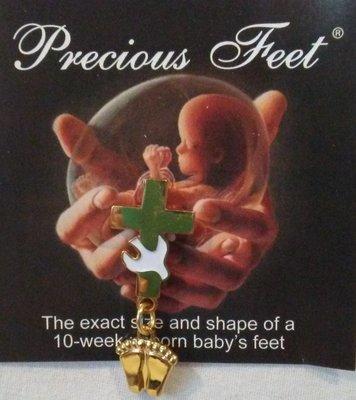 Precious Feet Cross Pin