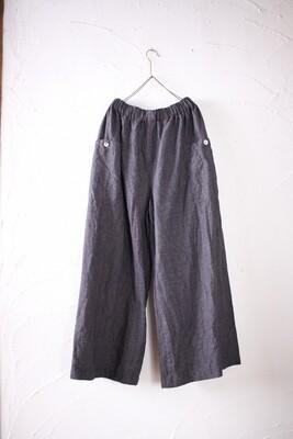 Linen wide-leg pants. Color: Grape
