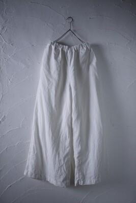 Wide-leg linen pants  白/White