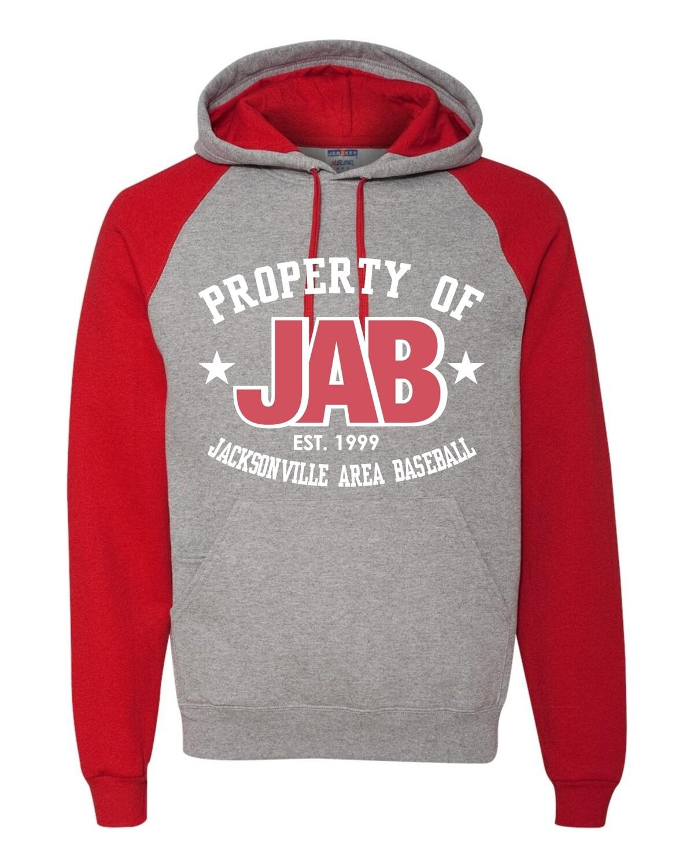 JAB-96CR JERZEES - Nublend® Colorblocked Raglan Hooded Sweatshirt