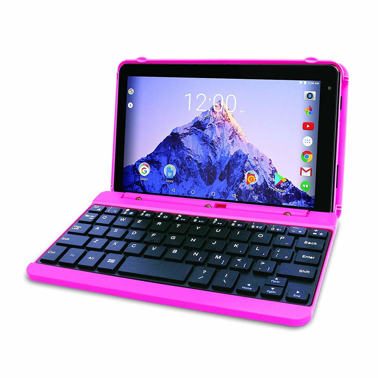 USAGE - LIKE NEW - RCA Voyager Pro 7 ECRAN DE 7 POUCES 16GB Tablet Avec Clavier Keyboard Case Android 6.0 (Marshmallow Rose)